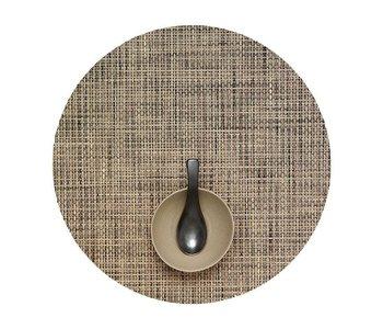 Placemat Basketweave Round BARK