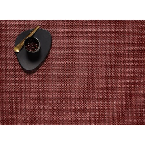 """Chilewich Placemat Basketweave POMEGRANATE 14"""" x 19"""""""
