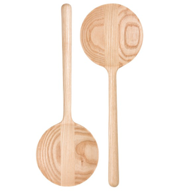 Danica Salad Servers Set 2 Circlet( wood)
