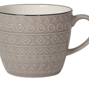 Now Designs Mug 12oz Casablanca Grey (porcelain)