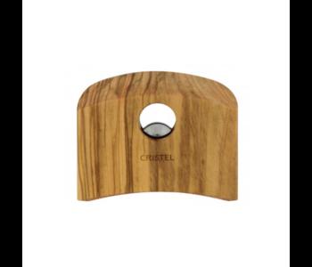 CRISTEL Castelline Removable Side Handle Olive Wood (one Handle)