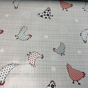 Carol's Nicetys Italian Vinyl Tablecloth Chicks