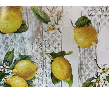 Italian Vinyl Tablecloth Lemons