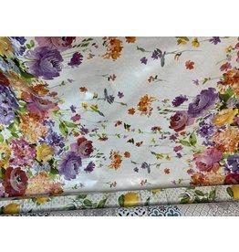 Carol's Nicetys Italian Vinyl Tablecloth Flowers