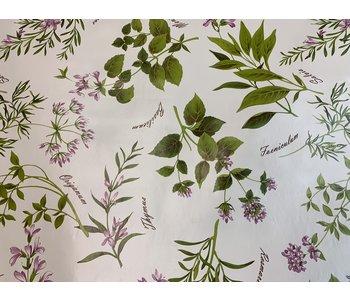 Italian Vinyl Tablecloth Italia Herbs