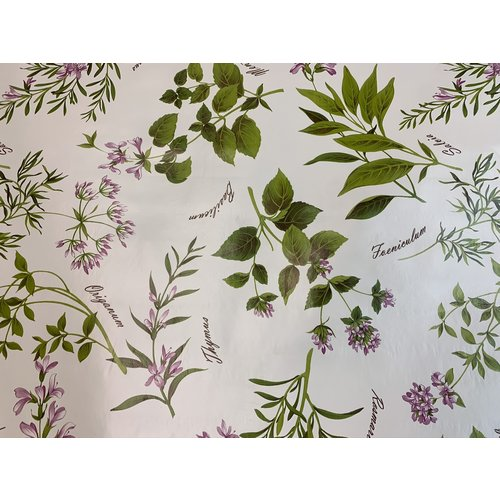 Carol's Nicetys Italian Vinyl Tablecloth Italia Herbs