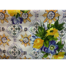 Carol's Nicetys Italian Vinyl Tablecloth Tile