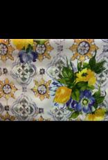Carol's Nicetys Italian Vinyl Tablecloth Tile