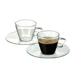 Cuisivin EISCH Glass Espresso Cup/Saucer/ Set of 2
