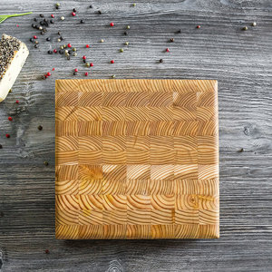 LARCH WOOD LARCH WOOD SQUARE CHEESE BOARD