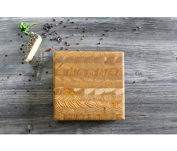 LARCH WOOD SQUARE CHEESE BOARD