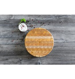 LARCH WOOD LARCH WOOD ROUND CHEESE BOARD