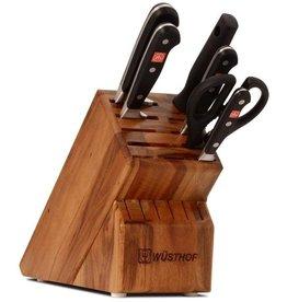 Wusthof WUSTHOF CLASSIC KNIFE BLOCK SET, 7 pcs. Acacia Block