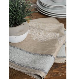 Linenway Tea towel MAJESTY Fog Grey/Moon & White