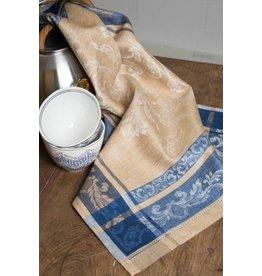 Linenway TEA TOWEL VERSAILLES BLUE & BEIGE