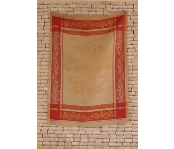 Tea towel VERSAILLES white gold and red