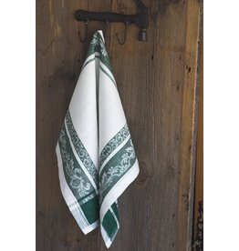 Linenway Tea Towel PROVENCE Cream Green Linen