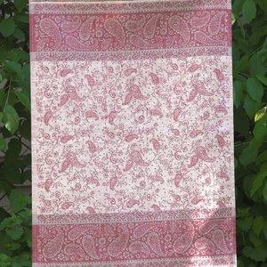 Linenway Tea towel PAISLEY burgundy/grey