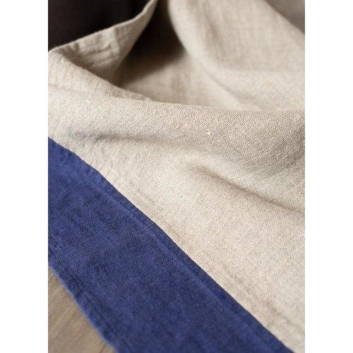 Linenway Tea Towel LE CHEF Natural Marlin Blue 100% Linen