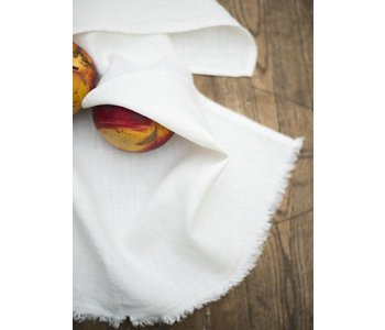"Tea Towel BILBAO Rustic White/Ivory 100% Linen 20"" x 28"""