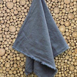 """Linenway Tea Towel BILBAO GREY 100% Linen 17"""" x 28"""""""