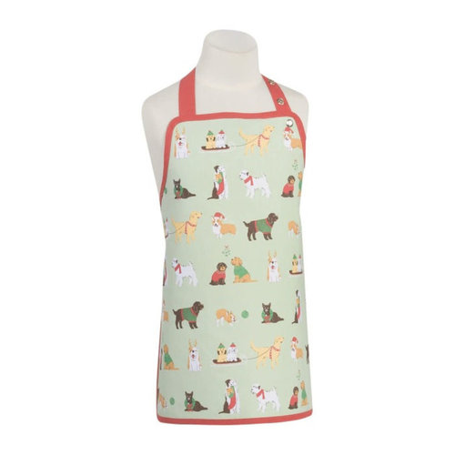 Danica Apron Kids Holiday Pups