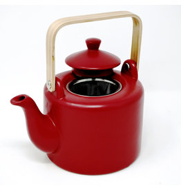 BIA Teapot with wood handle Red BIA