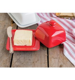 Danica Butter Dish Square RED