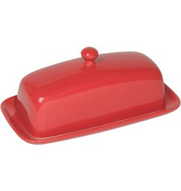 Danica Butter Dish Rectangular RED