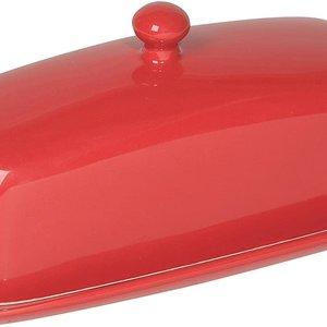Danica Butter Dish Rectangular Red