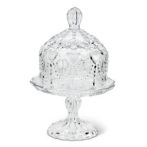Abbott Butter dish / pedestal plate with HEARTS