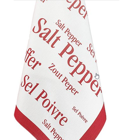 42FDistribution Tea Towel WINKLER Salt & Pepper Red