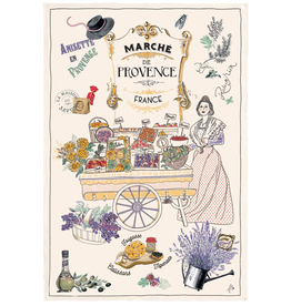 42FDistribution TEA TOWEL Provence Market