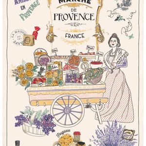 42FDistribution TEA TOWEL Provence Market