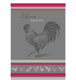 42FDistribution TEA TOWEL Montolivet ROOSTER (soft cotton)