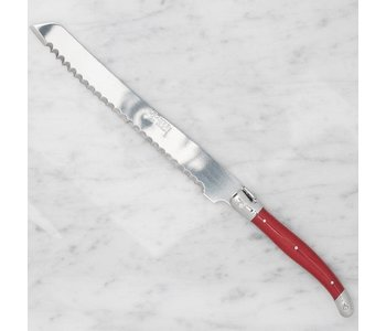 Bread Knife Laguiole New Red