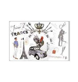 42FDistribution Placemat I Love France Wipeable