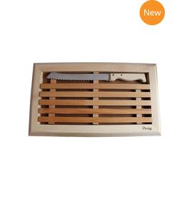 42FDistribution MONTOLIVET Bread Cutting Board with Knife