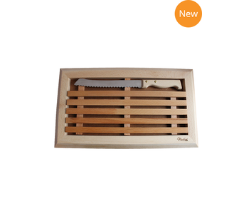 MONTOLIVET Bread Cutting Board with Knife