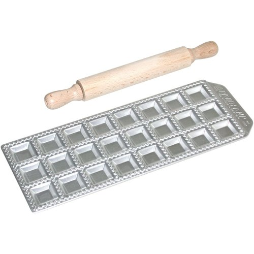 AURORA CASH & CARRY RAVIOLI MAKER 24 with rolling pin