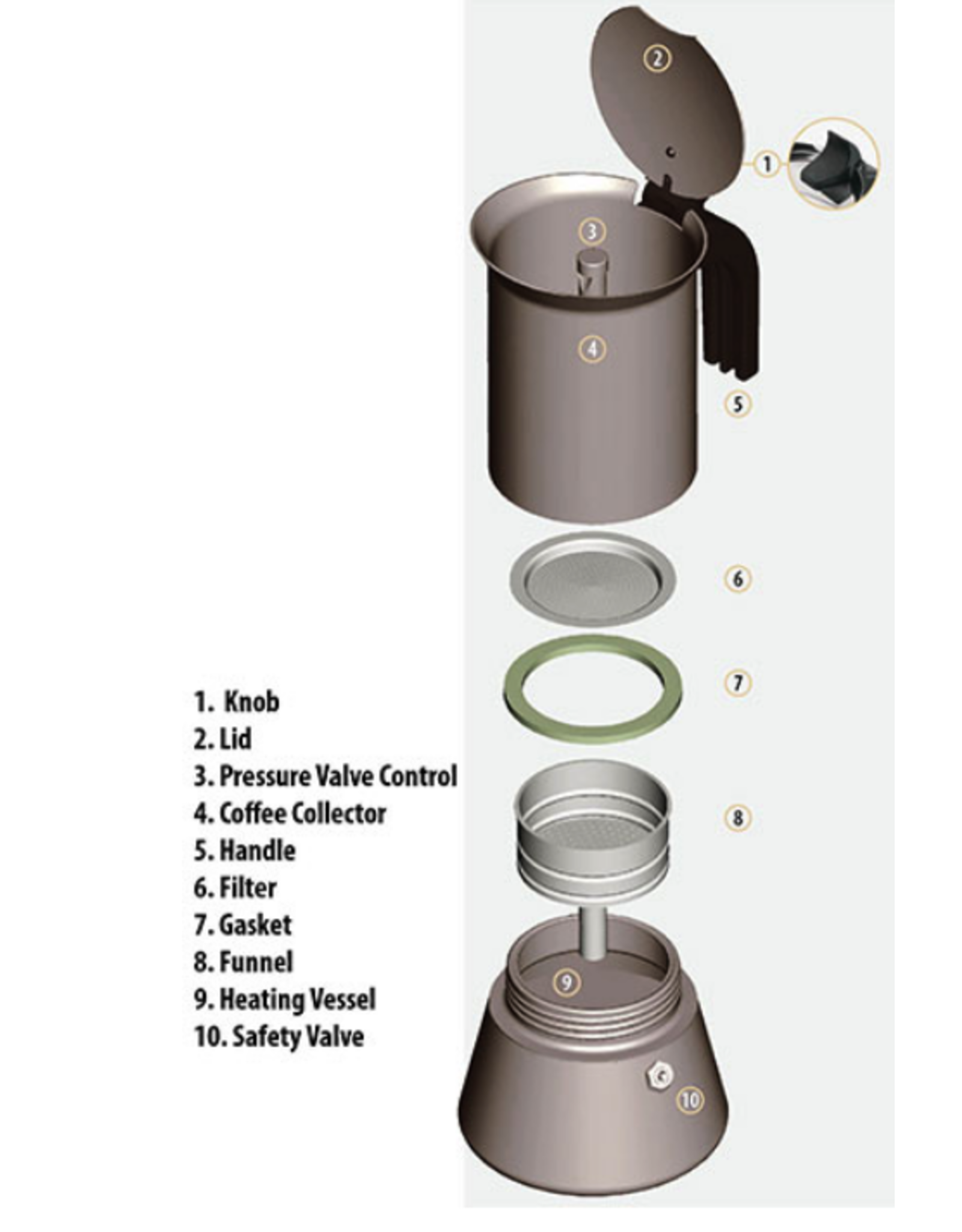 Bialetti BIALETTI Musa Espresso 4 Cup STAINLESS STEEL