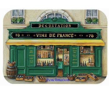 Placemat Boutique Vins de France Wipeable