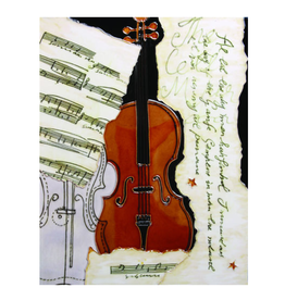 "Benaya Handcrafted Art Decor TILE - VIOLIN MONTAGE - 11"" x 14"""