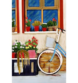 "Benaya Handcrafted Art Decor TILE - STREET SIDE - 8"" x 12"""