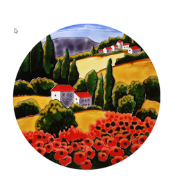 Benaya Handcrafted Art Decor TABLE Poppy Fields