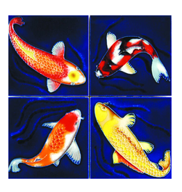 Benaya Handcrafted Art Decor Coasters -Koi Fish/ Set of 4