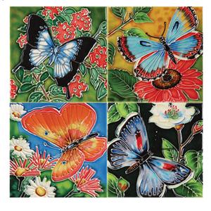 Benaya Handcrafted Art Decor Coasters -BUTTERFLY BEAUTY/ Set of 4