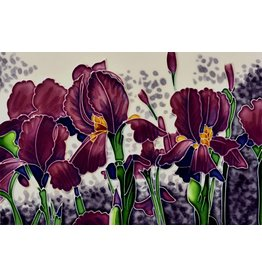 "Benaya Handcrafted Art Decor TILE - IRIS GARDEN- 8"" x 12"""