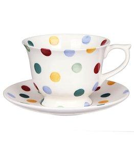 JL Bradshaw EMMA Polka dot Large Teacup & Saucer