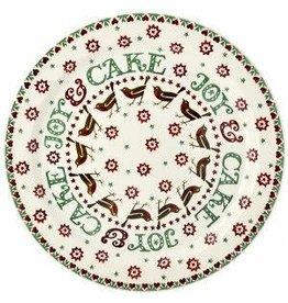 JL Bradshaw EMMA Christmas joy cake plate